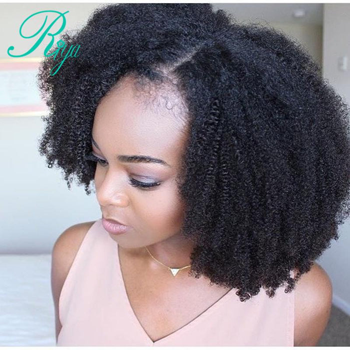 Afro Kinky Curly Lace Front Wig With Baby Hair Mongolian ...