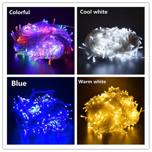 Aifeng Outdoor Christmas Led String Lights 100M 50M 30M 20M 10M 5M Decorative Fairy Light Holiday-Holiday Lighting-AIFENG Official Store-Blue-5M 40LED EU 220V-EpicWorldStore.com