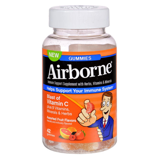 Airborne - Vitamin C Gummies For Adults - Assorted Fruit Flavors - 42 Count-Eco-Friendly Home & Grocery-Airborne-EpicWorldStore.com