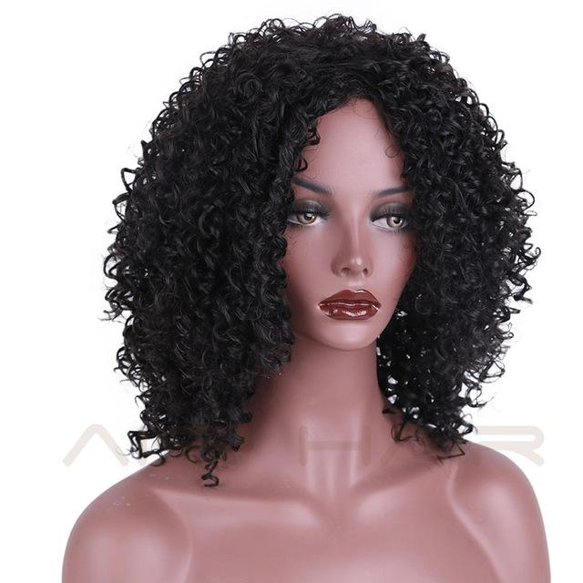 Aisi Hair Synthetic Wigs For Women Black Kinky Curly Afro African Womens  Hair-AISI HAIR 1f3818948a