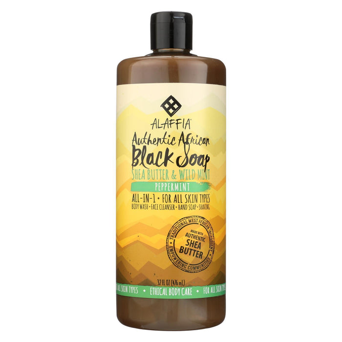 Alaffia - African Black Soap - Peppermint - 32 Fl Oz.-Eco-Friendly Home & Grocery-Alaffia-EpicWorldStore.com