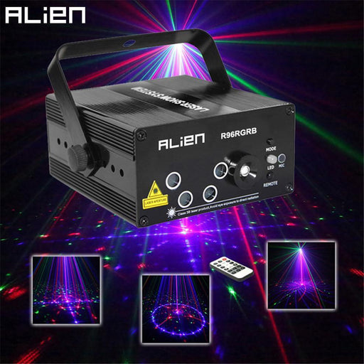 Alien New 96 Patterns Rgb Mini Laser Projector Light Dj Disco Party Music Laser Stage Lighting-Commercial Lighting-Alien Official Store-EU Plug-EpicWorldStore.com