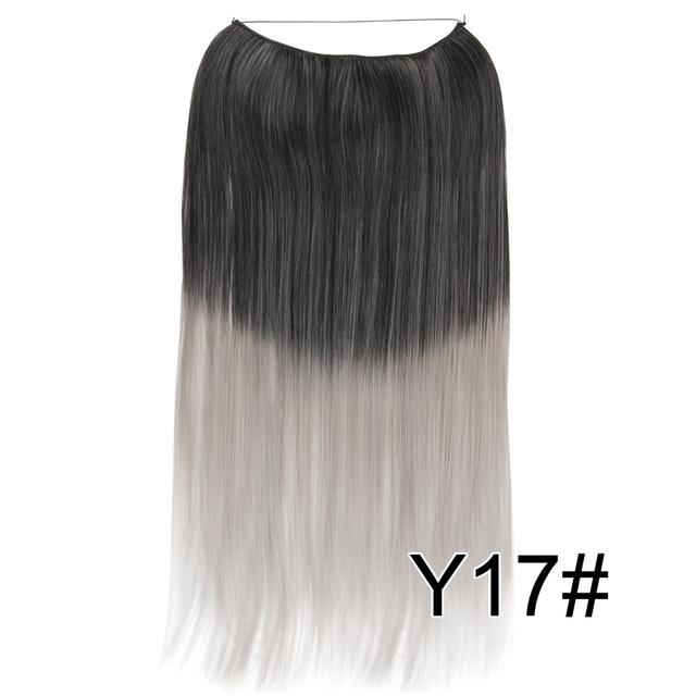 Alileader 22 Inches Clip On Wire Fish Line Hair Extensions Secret ...