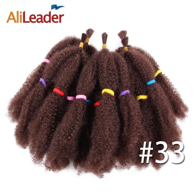 Alileader Afro Bulk Hair 5pcslot Synthetic Hair Extension For