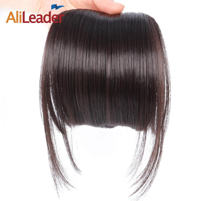 Alileader Neat Front Clip In Hair Bang Extensions Short Straight