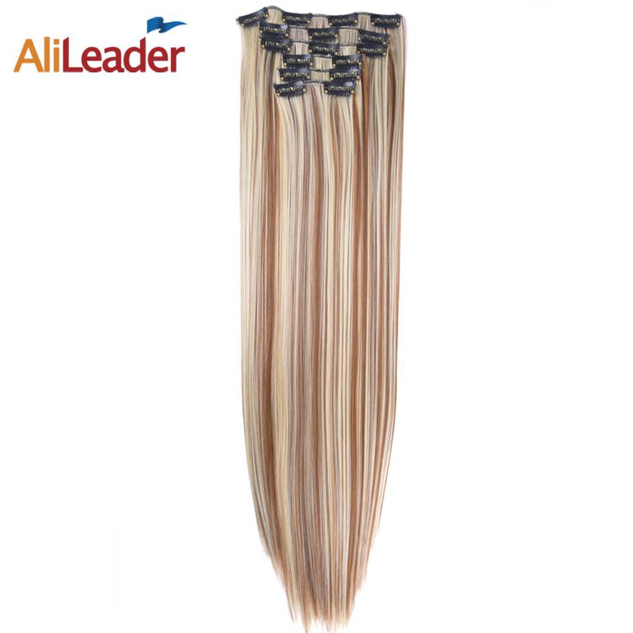 Alileader Products Full Head Clip In Hair Extensions 6 Pcsset 16