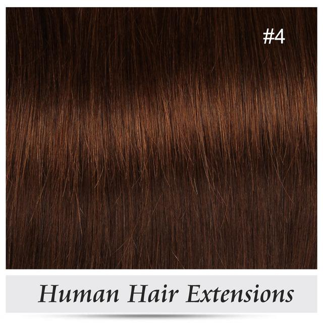Alishow Clip In Remy Human Hair Extensions Full Head Straight 100g