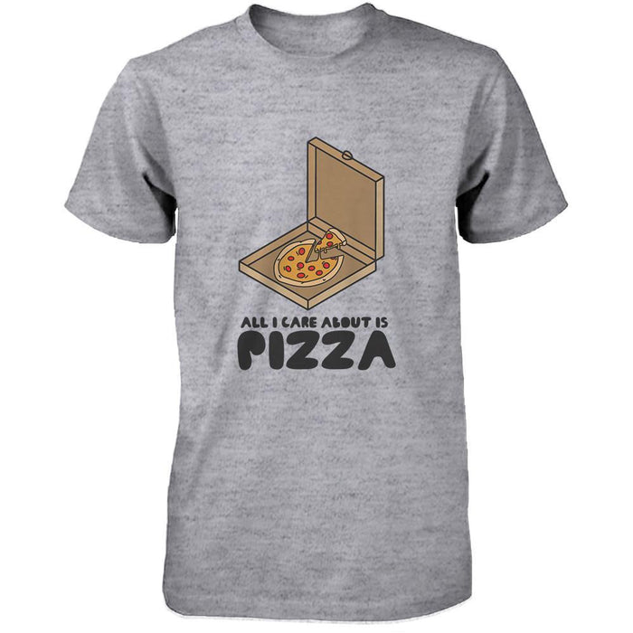 0cbb4fe32 All I Care About Is Pizza Funny Men'S T-Shirt Cute Graphic Tee Shirt-