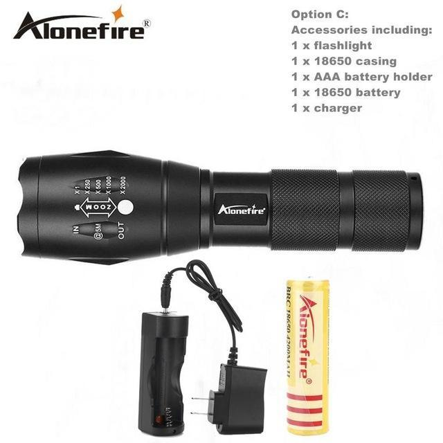 Alonefire E17/G700 Xml T6 5000Lm Tactical Cree Led Torch Zoomable Flashlight Torch Light For Aaa-Outdoor Lighting-Alonefire Global Store-Option C-EpicWorldStore.com
