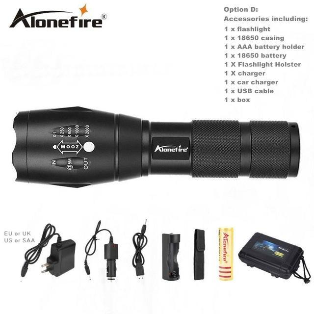 Alonefire E17/G700 Xml T6 5000Lm Tactical Cree Led Torch Zoomable Flashlight Torch Light For Aaa-Outdoor Lighting-Alonefire Global Store-Option D-EpicWorldStore.com