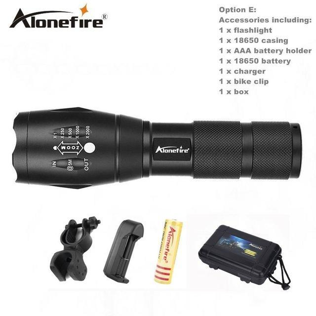 Alonefire E17/G700 Xml T6 5000Lm Tactical Cree Led Torch Zoomable Flashlight Torch Light For Aaa-Outdoor Lighting-Alonefire Global Store-Option E-EpicWorldStore.com