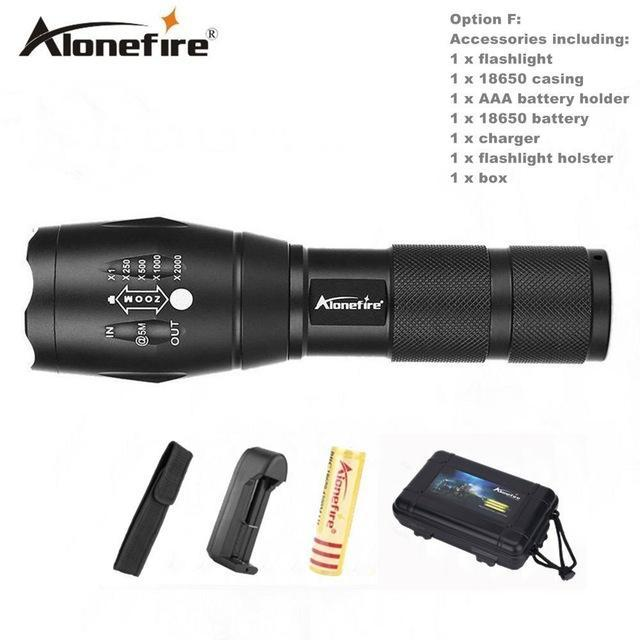 Alonefire E17/G700 Xml T6 5000Lm Tactical Cree Led Torch Zoomable Flashlight Torch Light For Aaa-Outdoor Lighting-Alonefire Global Store-Option F-EpicWorldStore.com