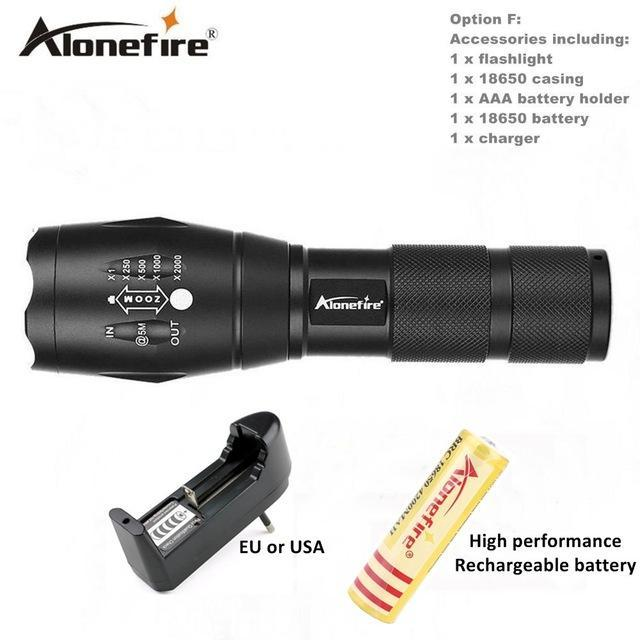 Alonefire E17/G700 Xml T6 5000Lm Tactical Cree Led Torch Zoomable Flashlight Torch Light For Aaa-Outdoor Lighting-Alonefire Global Store-Option G-EpicWorldStore.com
