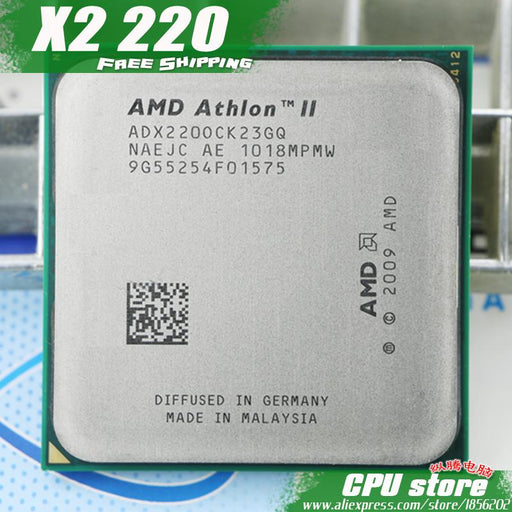 Amd Athlon Ii X2 220 Cpu Processor (2.8Ghz/ 1M /2000Ghz) Socket Am3 Am2+ 938 Pin-Computer Components-CPU Store-EpicWorldStore.com