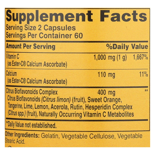 American Health - Ester-C With Citrus Bioflavonoids - 500 Mg - 120 Capsules-Eco-Friendly Home & Grocery-American Health-EpicWorldStore.com