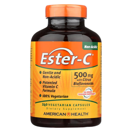 American Health - Ester-C With Citrus Bioflavonoids - 500 Mg - 240 Vegetarian Capsules-Eco-Friendly Home & Grocery-American Health-EpicWorldStore.com