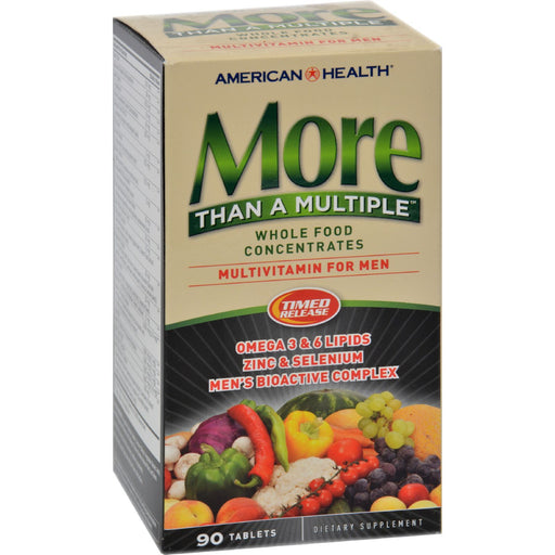 American Health - More Than A Multiple Whole Food Concentrates For Men - 90 Tablets-Eco-Friendly Home & Grocery-American Health-EpicWorldStore.com