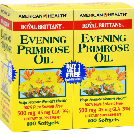 American Health - Royal Brittany Evening Primrose Oil 100+100 Softgels-Eco-Friendly Home & Grocery-American Health-EpicWorldStore.com