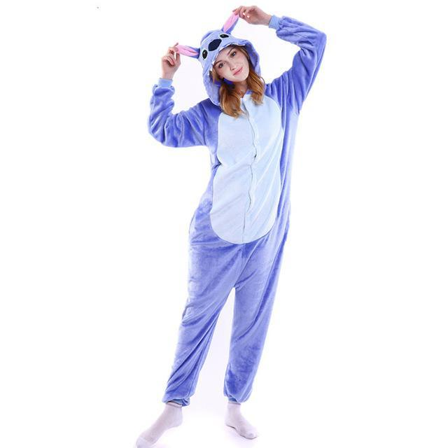5e87c2fa0b40 Amily Christmas Pajamas Stitch Pajamas Onesie Kids Animal Onesies For Adults  Pajamas For Women-Family