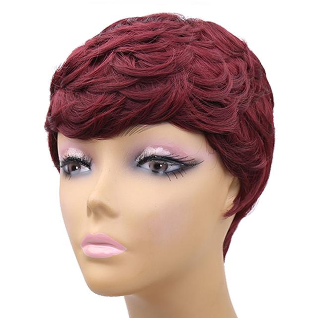 Amir Short Wigs For Women Black Short Synthetic Wig Cosplay Perruque Short  Curly Hair Drawstring- 2791fcbf4