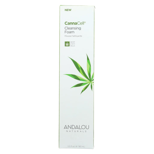 Andalou Naturals - Cannacell Cleansing Foam - 5.5 Fl Oz.-Eco-Friendly Home & Grocery-Andalou Naturals-EpicWorldStore.com