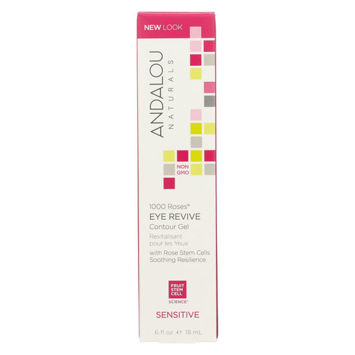 Andalou Naturals Eye Revive Contour Gel - 1000 Roses - .6 Oz-Eco-Friendly Home & Grocery-Andalou Naturals-EpicWorldStore.com
