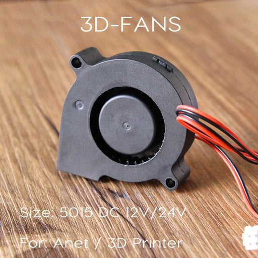 Anet A8 A6 5015 Air Blower 12V 24V Ultra-Quiet Oil Bearing About 7500 Rpm Turbo Small Fan For 3D-Office Electronics-3D-FANS-12V-EpicWorldStore.com
