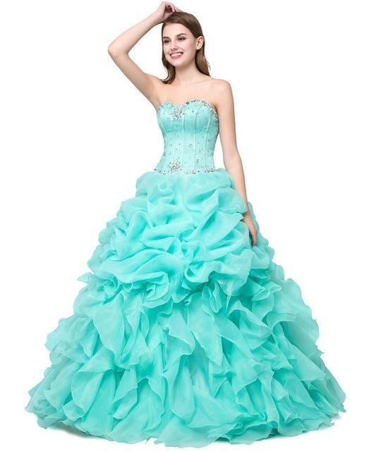 Angelsbridep Ball Gown With Jacket Sweetheart Crystal Pink / Yellow ...