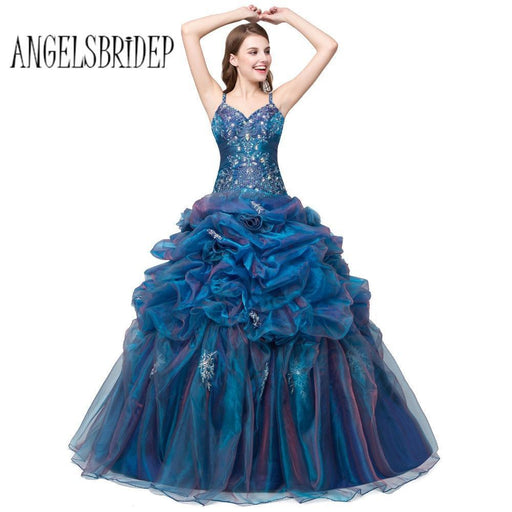 30a29243f5dcc Angelsbridep In Stock Cheap Quinceanera Dresses For 15 Years With Beaded V  Neck Ball Gown-
