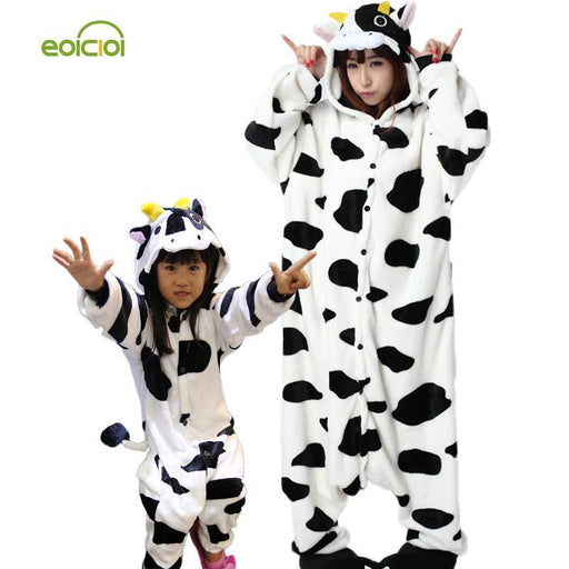 Animal Pajamas One Piece Family Matching Outfits Adult Onesie Mother And Daughter Clothes Totoro-Family Matching Outfits-EOICIOI Store-unicorn 1-Adult S-EpicWorldStore.com