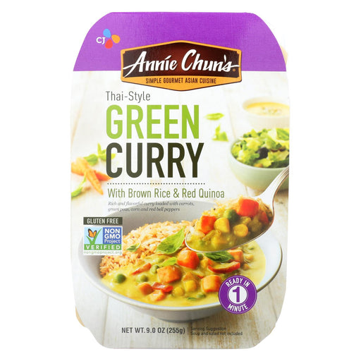 Annie Chuns Medium Spicy Green Curry Ready Meal - Case Of 6 - 9 Oz-Eco-Friendly Home & Grocery-Annie Chun's-EpicWorldStore.com