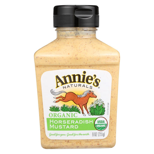 Annie'S Naturals Organic Horseradish Mustard - Case Of 12 - 9 Oz.-Eco-Friendly Home & Grocery-Annie's Naturals-EpicWorldStore.com