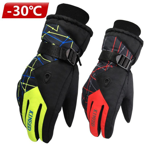 Antiskid Wear Resistant Riding Ski Gloves Mountain Skiing Snowmobile Waterproof Snow Motorcycle-Shooting-SI Outdoor Co. Ltd. Store-women gray-EpicWorldStore.com