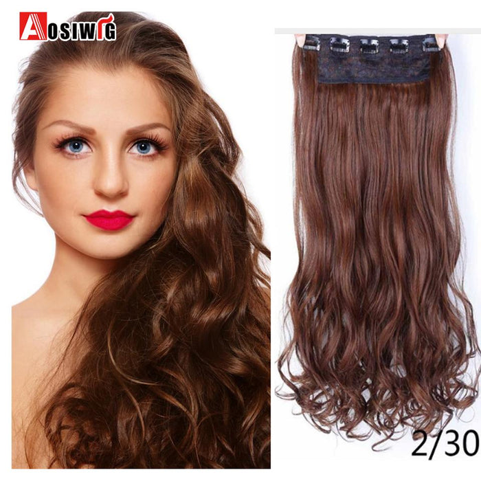 Aosiwig 2428 Long Wavy High Temperature Fiber Synthetic Clip In