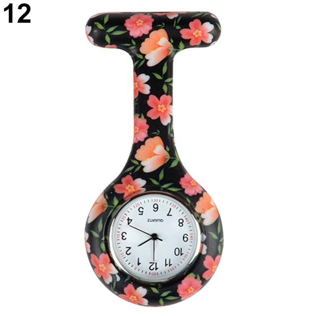 Arabic Numerals Round Dial Silicone Nurses Brooch Tunic Fob Pocket Watch-Pocket & Fob Watches-2017 watch Store-12-EpicWorldStore.com