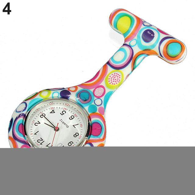 Arabic Numerals Round Dial Silicone Nurses Brooch Tunic Fob Pocket Watch-Pocket & Fob Watches-2017 watch Store-4-EpicWorldStore.com