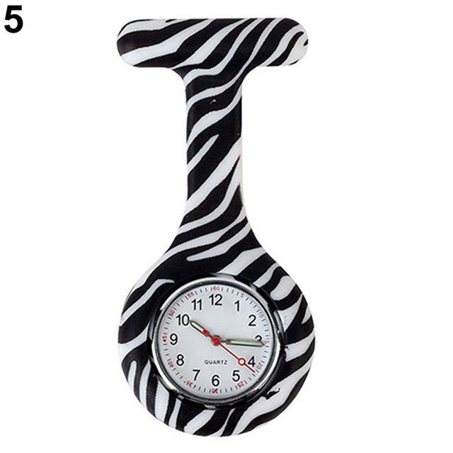 Arabic Numerals Round Dial Silicone Nurses Brooch Tunic Fob Pocket Watch-Pocket & Fob Watches-2017 watch Store-5-EpicWorldStore.com