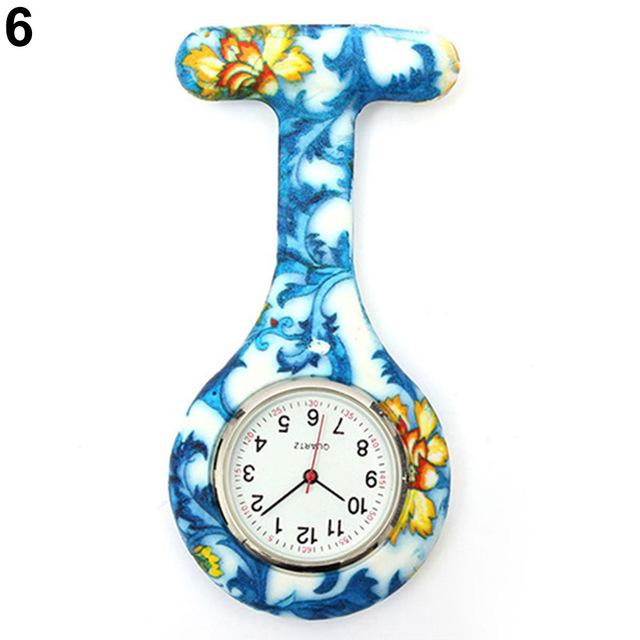 Arabic Numerals Round Dial Silicone Nurses Brooch Tunic Fob Pocket Watch-Pocket & Fob Watches-2017 watch Store-6-EpicWorldStore.com