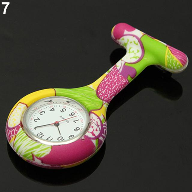 Arabic Numerals Round Dial Silicone Nurses Brooch Tunic Fob Pocket Watch-Pocket & Fob Watches-2017 watch Store-7-EpicWorldStore.com