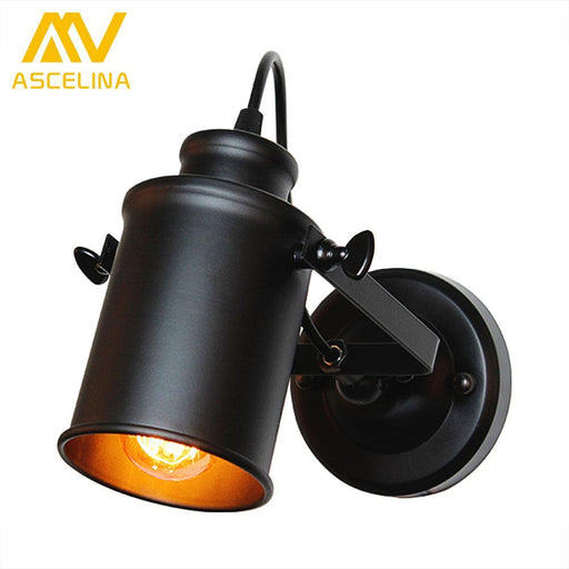 Ascelina Wall Lamp American Retro Country Loft Style Led Lamps Industrial Vintage Iron Wall Light-Lamps & Shades-ASCELINA LIGH Store-EpicWorldStore.com