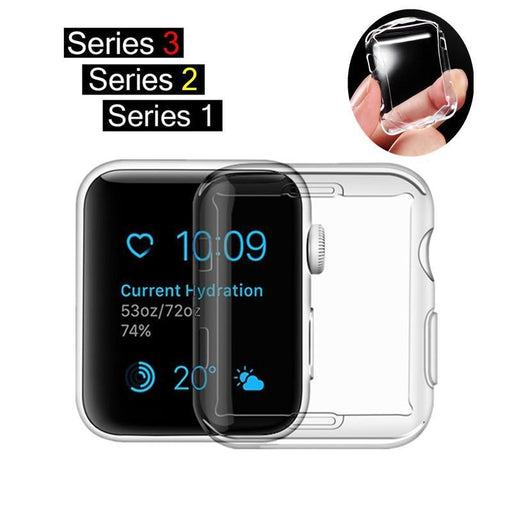 Ashei Watch Accessories For Apple Watch Case Series 3 2 1 Soft Slim Tpu Screen Protector-Watch Accessories-JunTan Store-Series 3 Soft case-38mm-EpicWorldStore.com