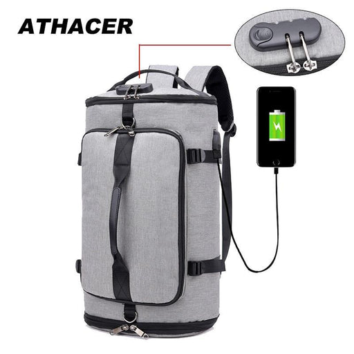 Athacer Stylish Anti Theft Backpack Travel Large Capacity Luggage Usb Charging Shoulder Bag Male-Backpacks-Athacer Store-Black-EpicWorldStore.com