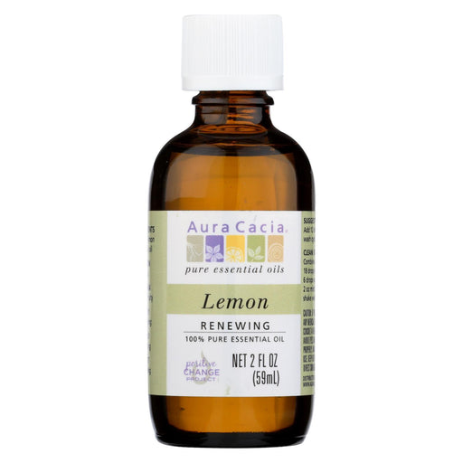 Aura Cacia - Essential Oil - Lemon - 2 Fl Oz-Eco-Friendly Home & Grocery-Aura Cacia-EpicWorldStore.com