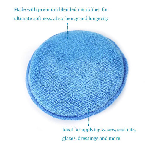 "Auto Care 10-Pack 5"" Diameter Soft Microfiber Car Wax Applicator Pads Polishing Sponges With-Car Wash & Maintenance-AUTO CARE Global Store-BPAP03-EpicWorldStore.com"