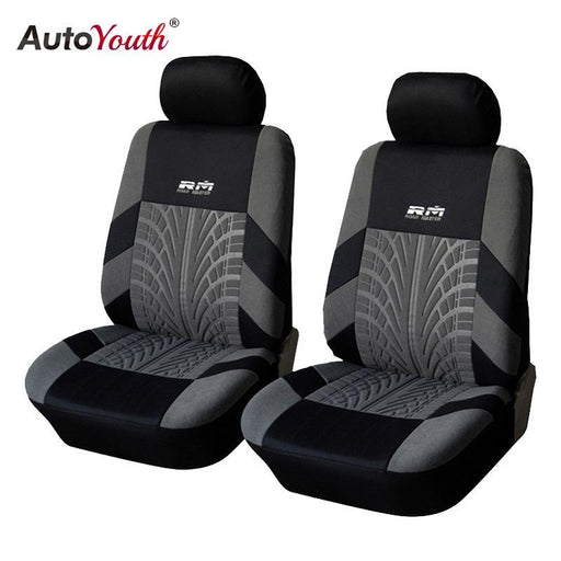 Autoyouth Hot Sale 9Pcs And 4Pcs Universal Car Seat Cover Fit Most Cars With Tire Track Detail Car-Interior Accessories-AUTOYOUTH Official Store-Full Seat Covers Set-EpicWorldStore.com