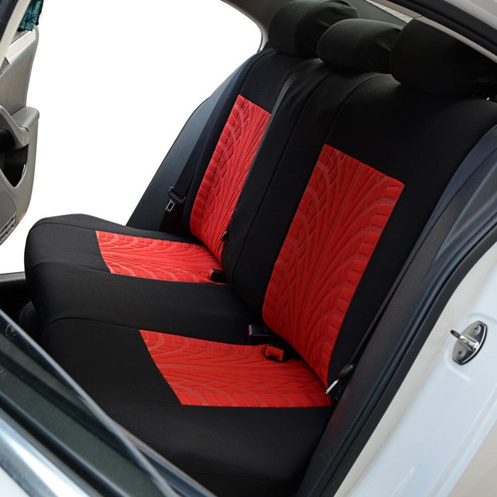 Autoyouth Tire Track Detail Style Universal Car Seat Covers Fits Most Brand Vehicle Seat-Interior Accessories-AUTOYOUTH Official Store-Gray-EpicWorldStore.com