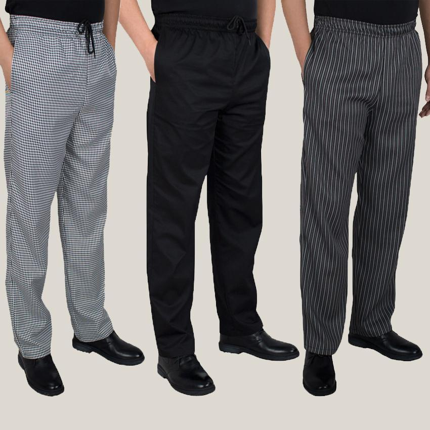 adda65cc271 Autumn And Winter Food Service Autumn Cook Pants Work Pants Checked Striped Chef  Pants Unisex Chef