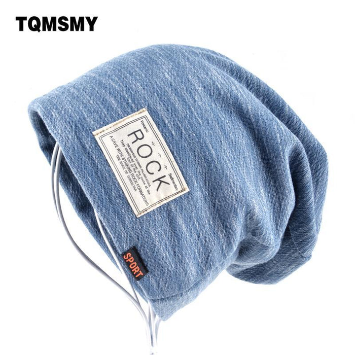 b8ee30e6 Autumn Hip Hop Cap Winter Beanies Men Hats Rock Logo Casual Cap Turban Hat  Bonnet Plus