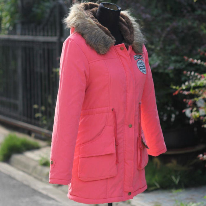 Autumn Parkas Winter Jacket Women Coats Female Outerwear Casual Long Down Cotton Wadded Lady Woman-Jackets & Coats-JACCOA Store-Army Green-S-EpicWorldStore.com