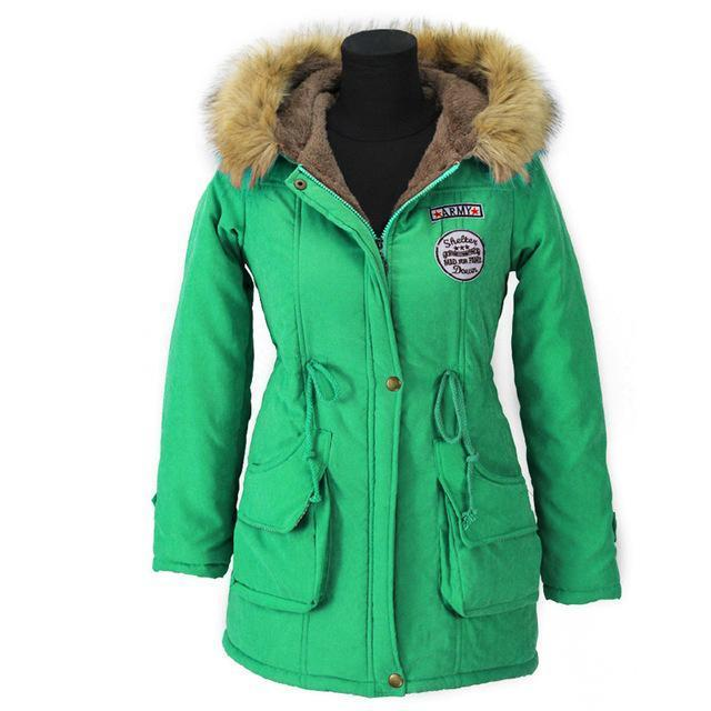 Autumn Parkas Winter Jacket Women Coats Female Outerwear Casual Long Down Cotton Wadded Lady Woman-Jackets & Coats-JACCOA Store-Grass Green-S-EpicWorldStore.com